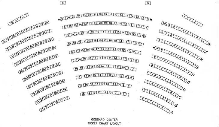 ALT & Goddard Center Seating Chart