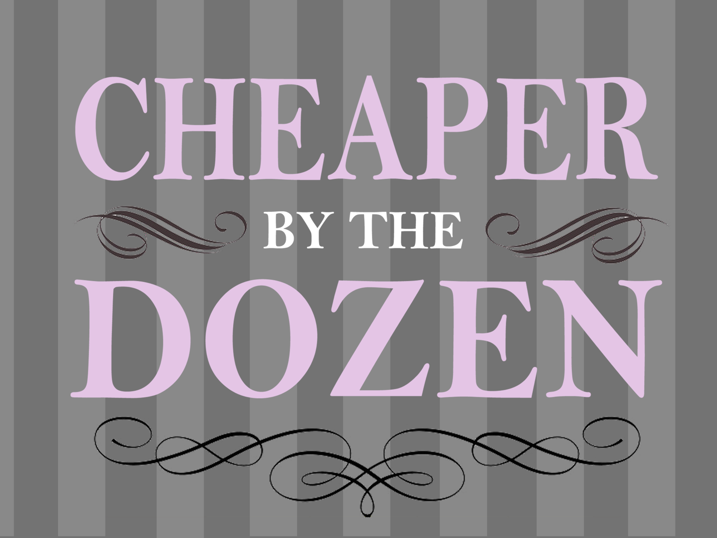 Small logo for Cheaper by the Dozen