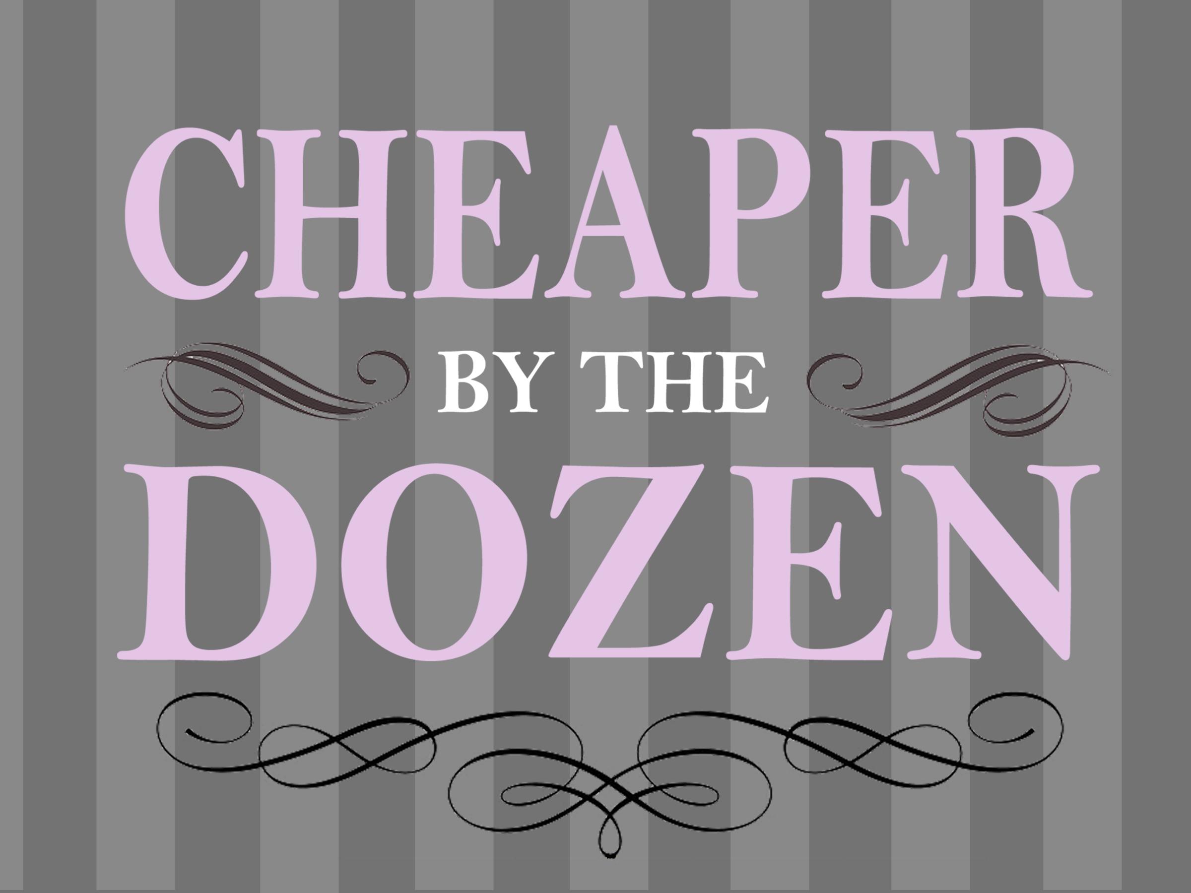 Small logo for Cheaper by the Dozen